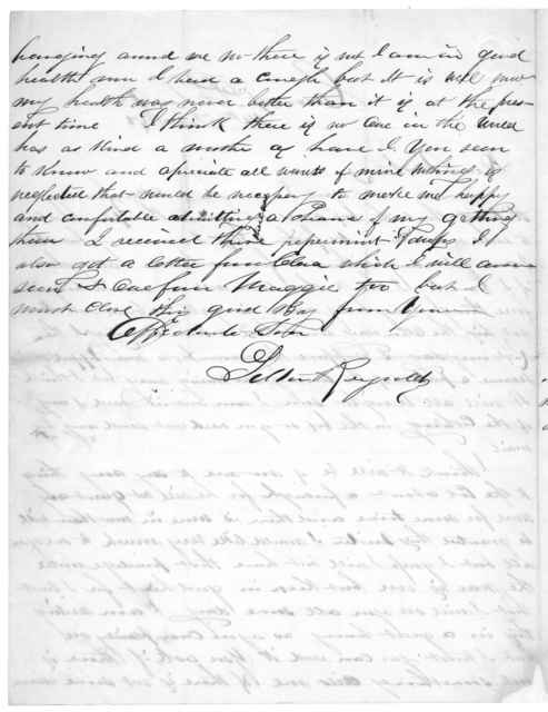 Letter from Tilton C. Reynolds to Juliana Smith Reynolds, February 14, 1863