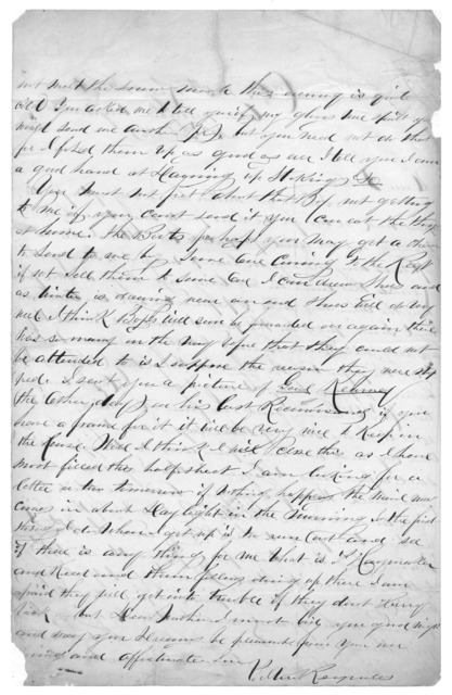 Letter from Tilton C. Reynolds to Juliana Smith Reynolds, February 23, 1863