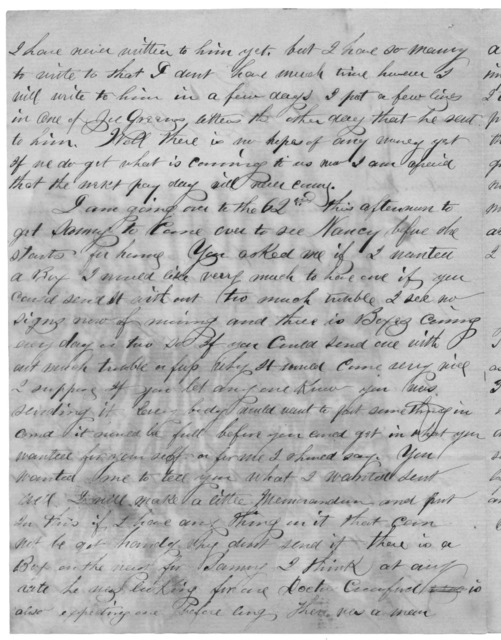 Letter from Tilton C. Reynolds to Juliana Smith Reynolds, January 14, 1863