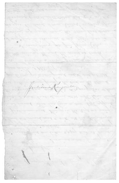Letter from Tilton C. Reynolds to Juliana Smith Reynolds, January 4, 1863