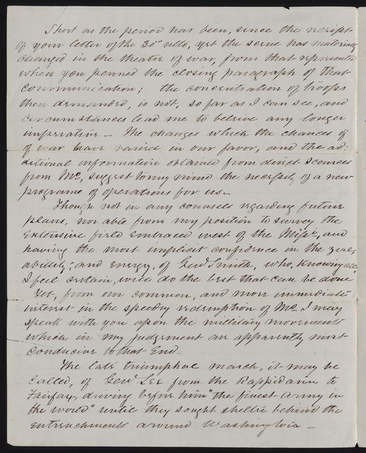 Letter to Reynolds from Sterling Price, November 5, 1863]