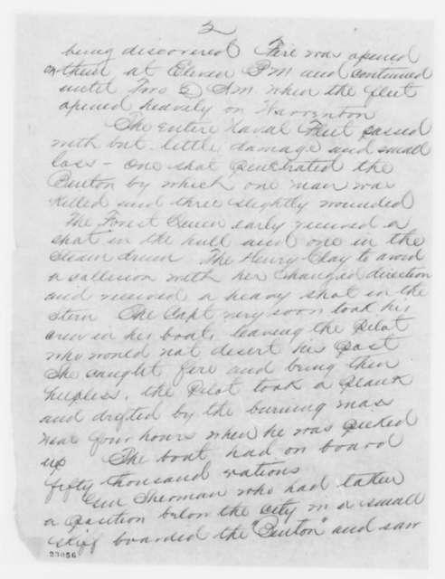 Lorenzo Thomas to Edwin M. Stanton, Friday, April 17, 1863  (Telegram reporting military affairs at Vicksburg)