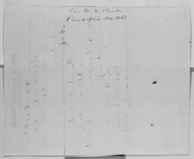 M. N. Chaisler to Abraham Lincoln, Friday, October 23, 1863  (Telegram reporting that reinforcements are on the way)