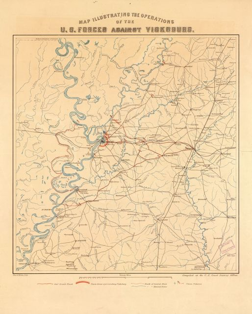Map illustrating the operations of the U.S. forces against Vicksburg /