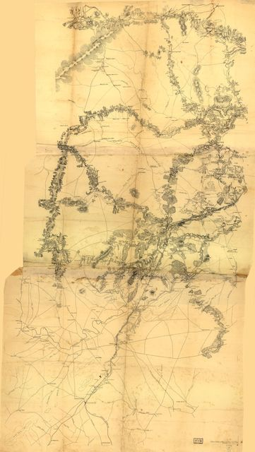 [Map of Culpeper County and parts of the counties of Warren, Rappahannock, Madison, Orange, and Fauquier]