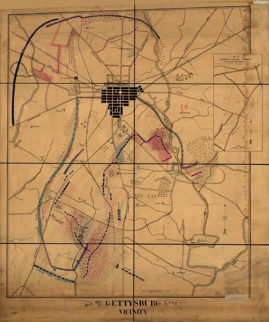 Map of Gettysburg and vicinity /
