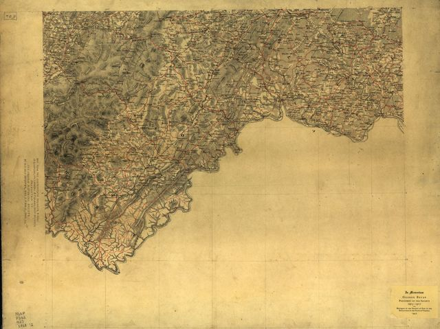 [Map of Nelson Co. and part of the counties of Albemarle, Amherst, Augusta, Fluvanna and Louisa, Va.].