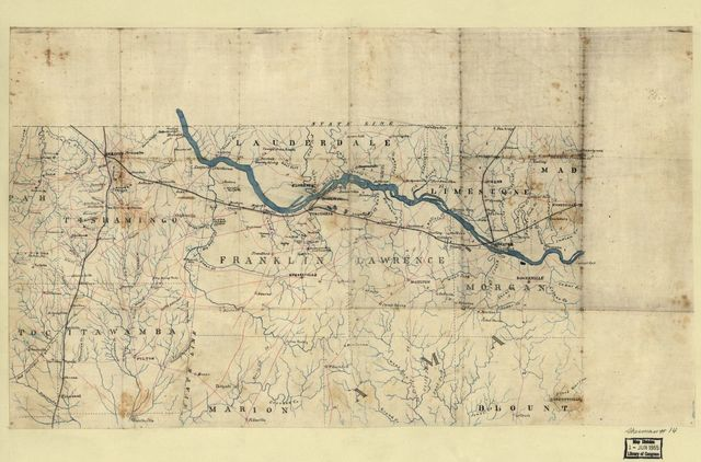 [Map of northwest Alabama and northeast Mississippi].