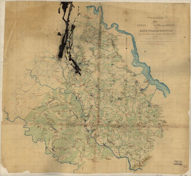 Map of part of Essex, King and Queen, and King William Counties /
