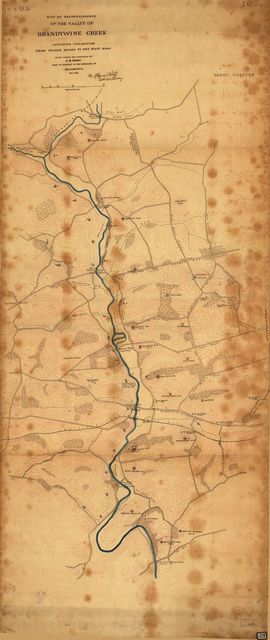 Map of reconnaissance of the valley of Brandywine Creek : including the section from Smiths Bridge to the State Road /