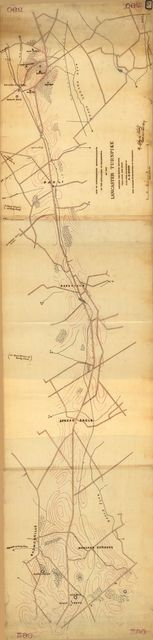 Map of supplementary reconnaissance of the approaches to Philadelphia by the Lancaster Turnpike : including the section between Villa Nova and Paoli /