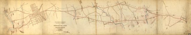Map of supplementary reconnaissance of the approaches to Philadelphia by the West-Chester Road : including the section from Newtown Square to the east branch of the Brandywine Creek /