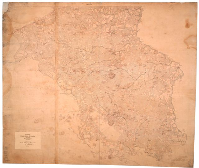 [Map of the counties of Bertie and Hertford and part of the county of Northampton, North Carolina].