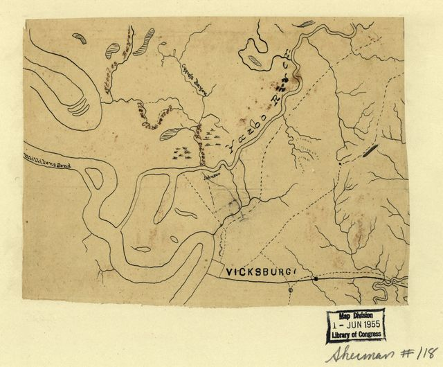 [Map of the environs of Vicksburg, Mississippi, 1863]