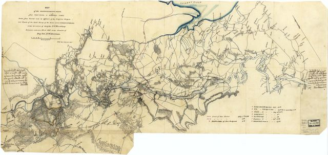 Map of the Rappahannock River fron [sic] Port Royal to Richards Ferry /