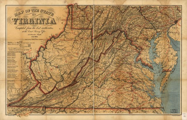 Map of the State of Virginia