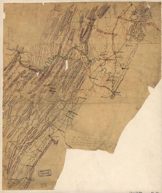 Map showing the routes of Brig. Gen. J.B. [i.e., J.D.] Imboden's command during the Pennsylvania campaign of 1863 /