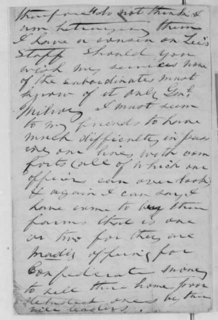 Mary F. Carpenter to Abraham Lincoln, Friday, March 27, 1863  (Support and offer to spy for the Union)
