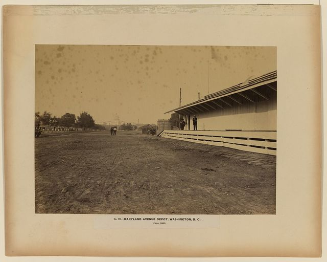 Maryland Avenue Depot, Washington, D.C., June, 1863