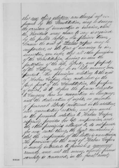 Matthew Birchard, et al. to Abraham Lincoln, Wednesday, July 01, 1863  (Response to Lincoln's letter of June 29 regarding Vallandigham)