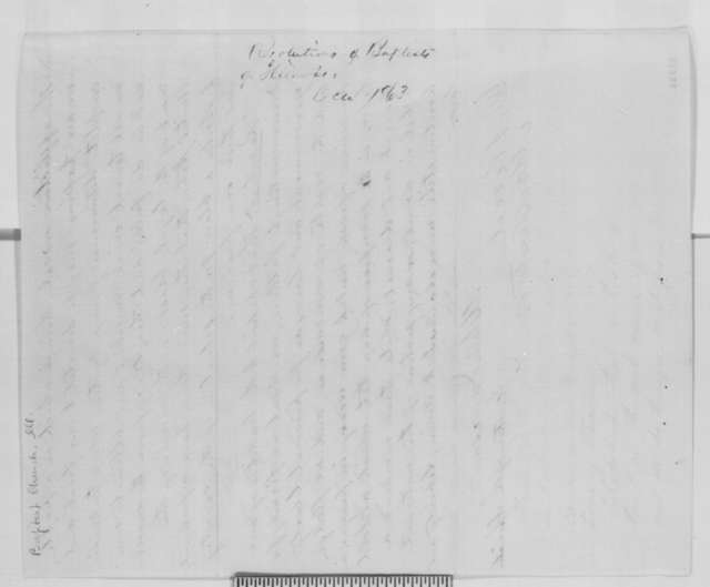 Melvin Jameson to Abraham Lincoln, Monday, October 19, 1863  (Sends resolutions from General Association of Illinois Baptists)