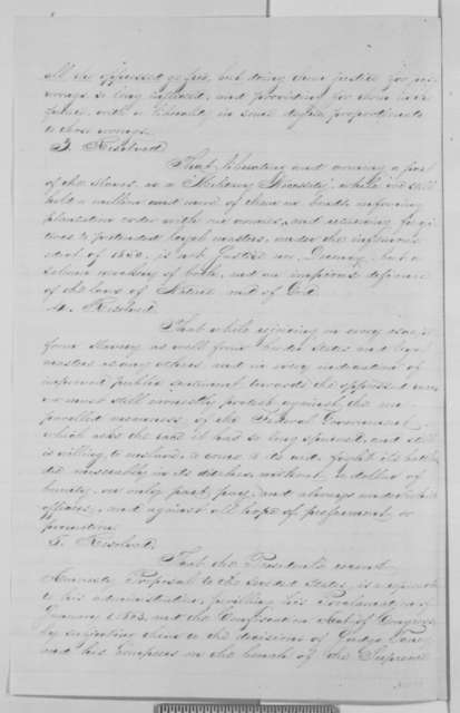 Middlesex County Massachusetts Anti-Slavery Society to Abraham Lincoln, Sunday, December 27, 1863  (Resolutions)