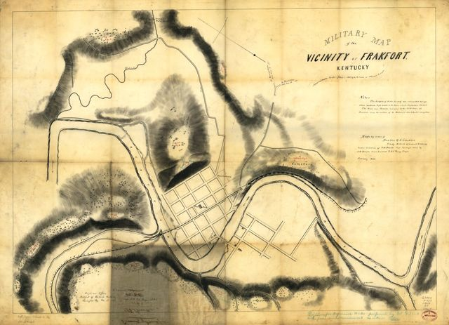 Military map of the vicinity of Frankfort, Kentucky /