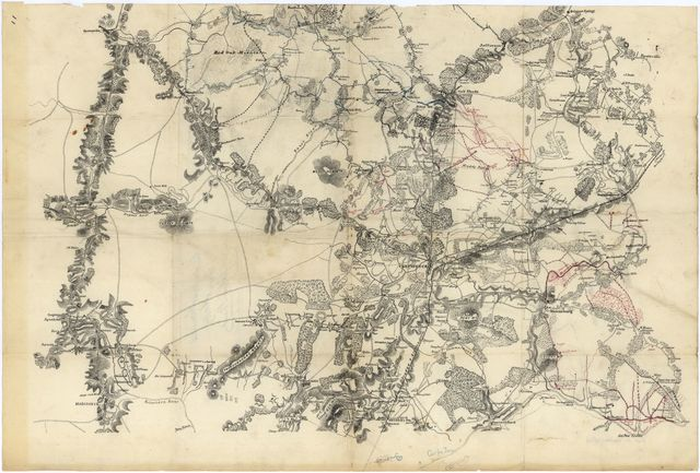 [Miscellaneous lithographed proof sheets of areas in Virginia : field surveys compiled and printed by the Engineer Department, Army of the Potomac].
