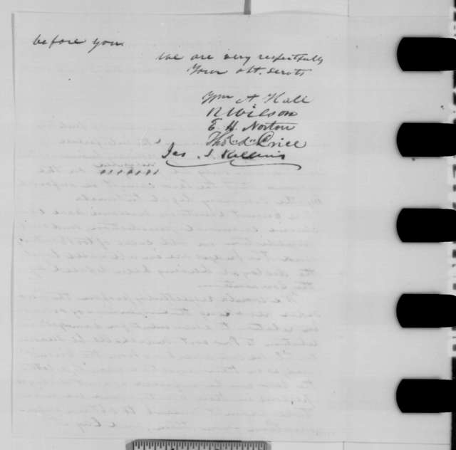 Missouri Delegation in Congress to Abraham Lincoln, January 1863  (Military assessments in Missouri)