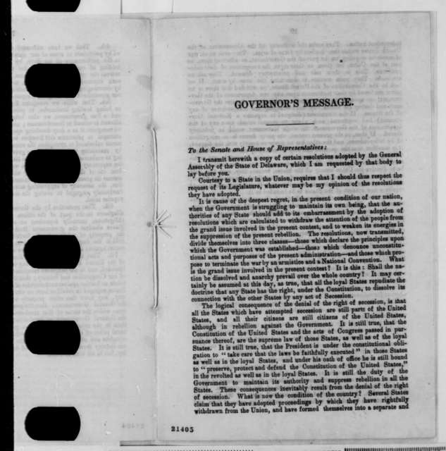 Missouri Legislature, Thursday, January 29, 1863  (Pamphlet)