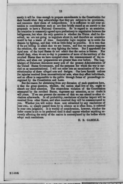Missouri Legislature, Thursday, January 29, 1863  (Pamphlet)