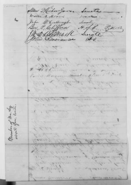Missouri Legislature to Abraham Lincoln, Monday, March 02, 1863  (Petition in support of General Samuel R. Curtis)