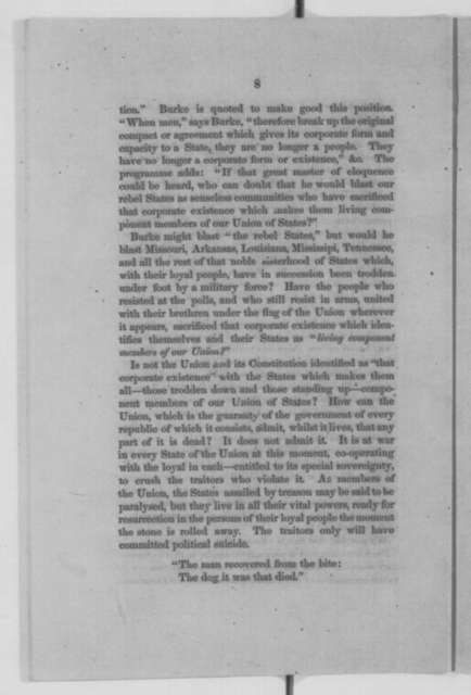 Montgomery Blair, Saturday, October 03, 1863  (Pamphlet)
