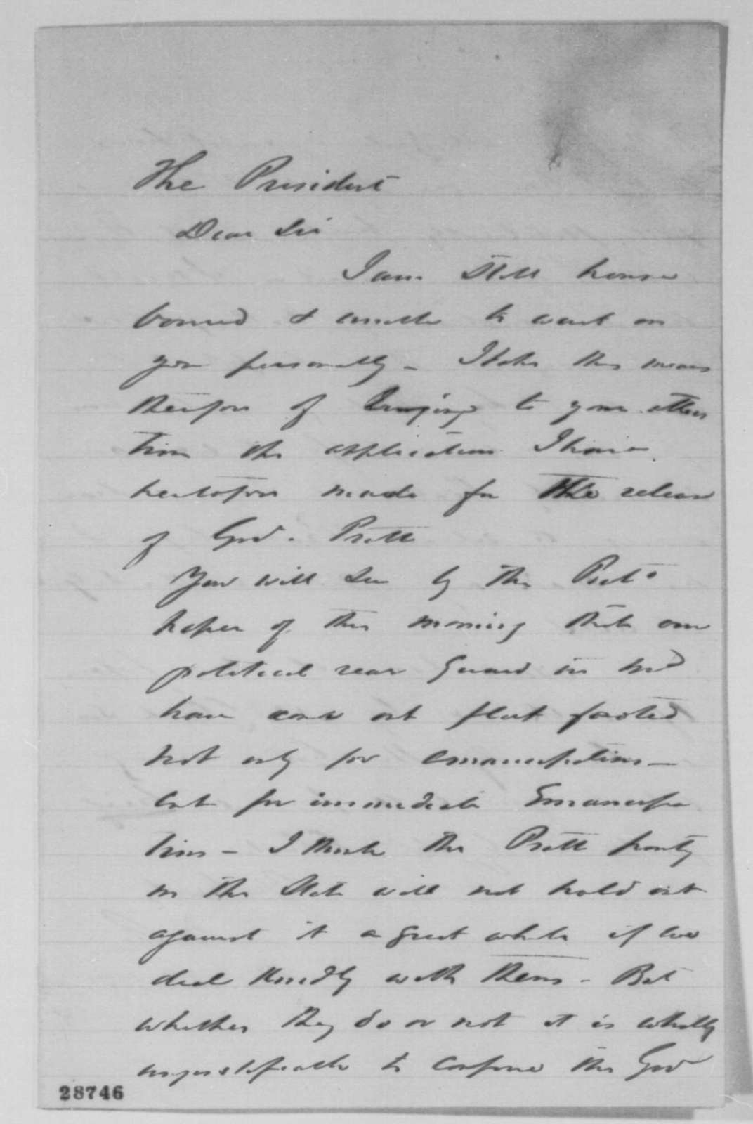 Montgomery Blair to Abraham Lincoln, Friday, December 18, 1863  (Thomas G. Pratt and political affairs in Maryland)