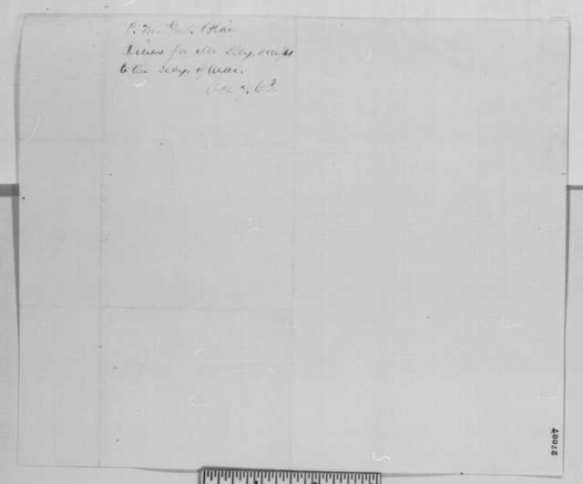 Montgomery Blair to Abraham Lincoln, Wednesday, October 07, 1863  (Introduces Anthony Dey)