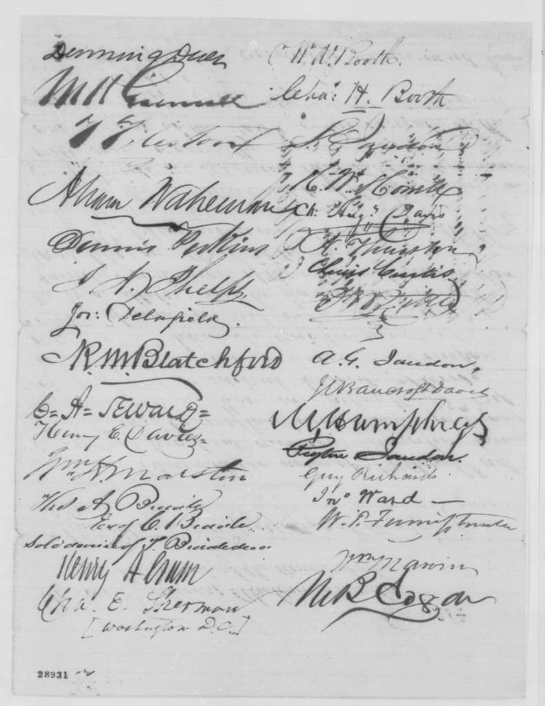 Moses H. Grinnell, et al. to Abraham Lincoln, Monday, December 28, 1863  (Petition on behalf of George Brainerd; endorsed by Edwin D. Morgan)