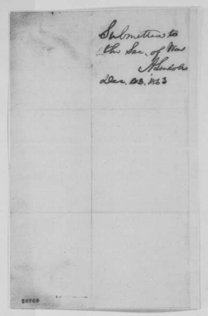 Nathan Clifford to William Whiting, Saturday, December 19, 1863  (Case of Samuel Gilman; endorsed by Lincoln, December 22, 1863)