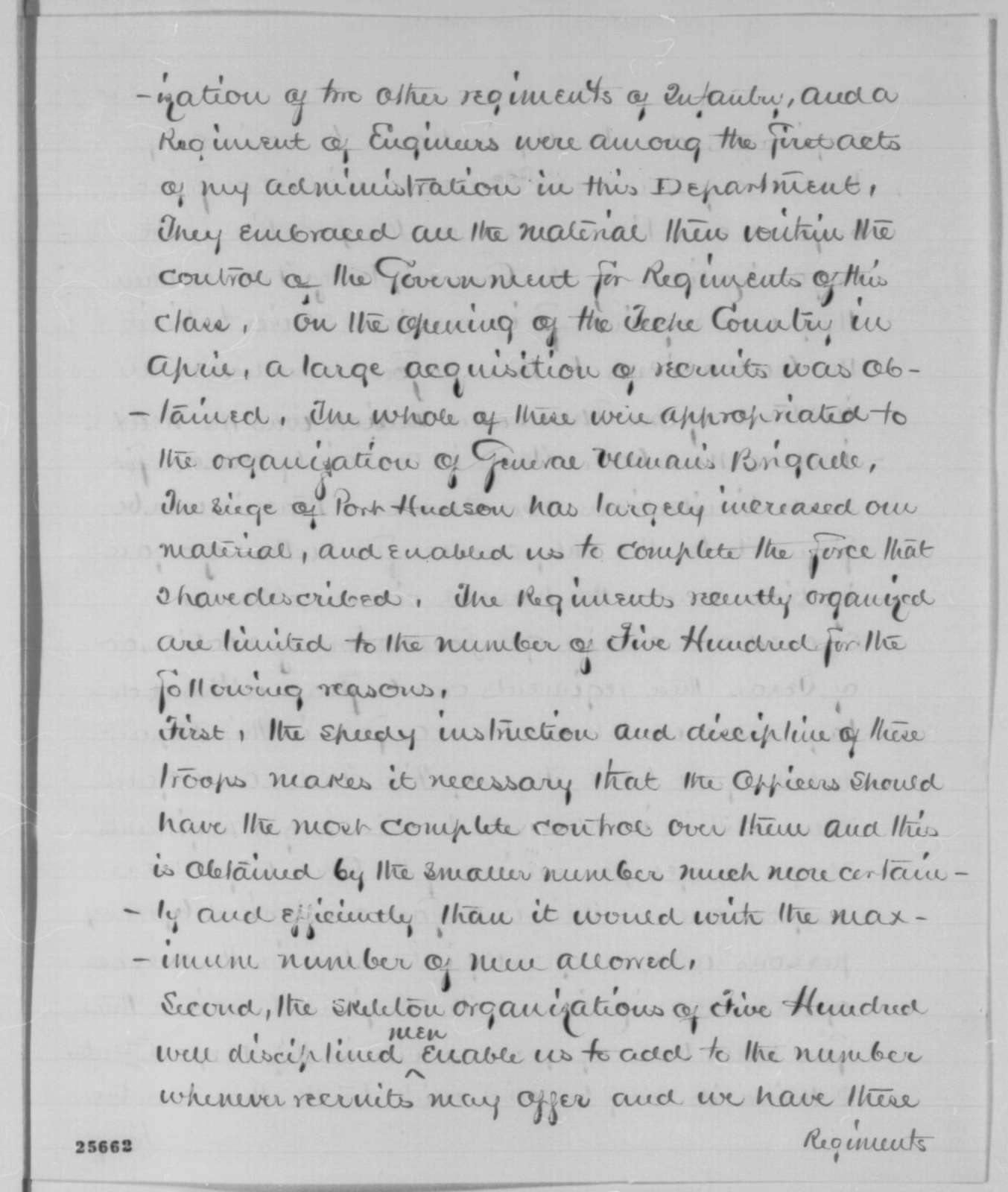 Nathaniel P. Banks to Abraham Lincoln, Monday, August 17, 1863  (Organization of black soldiers)