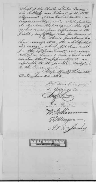 New York Citizens to Abraham Lincoln, Monday, June 22, 1863  (Petition on behalf of Charles B. Stuart)