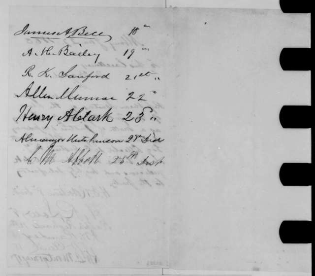 New York Senate Republicans to Abraham Lincoln, Tuesday, January 27, 1863  (Petition urging retention of Abram Hyatt as collector for 10th District)
