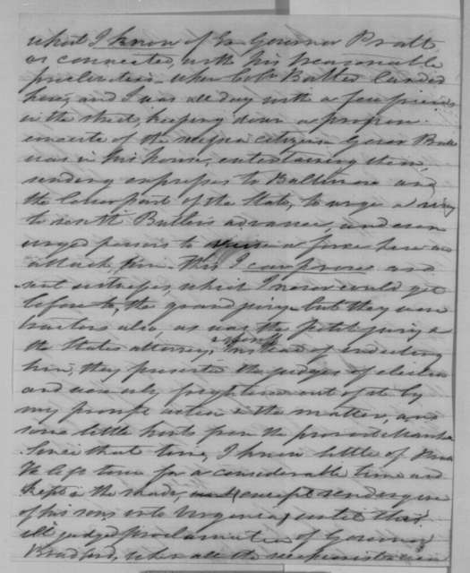 Nicholas Brewer to Abraham Lincoln, Saturday, November 07, 1863  (Thomas Pratt and Maryland election)