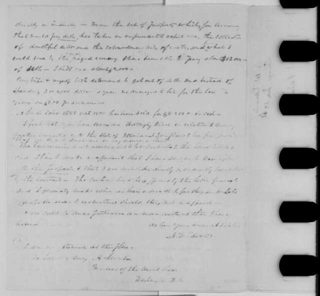 Ninian W. Edwards to Abraham Lincoln, Monday, July 27, 1863  (Conduct as commissary of subsistence)