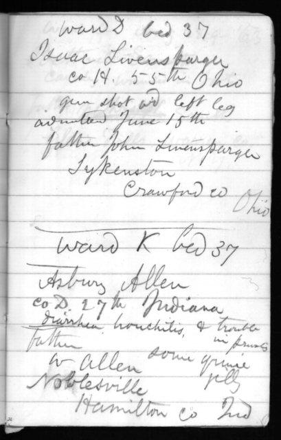 Notebook LC #101- Washington hospital notebook