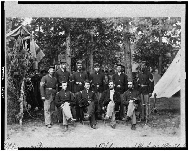 Officers and non-commissioned officers of Co. J(?), 93d N.Y. Inf'y., Bealton [i.e., Bealeton], Va.
