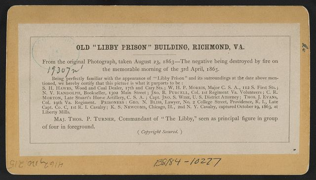 "Old ""Libby Prison"" building, Richmond, Va."
