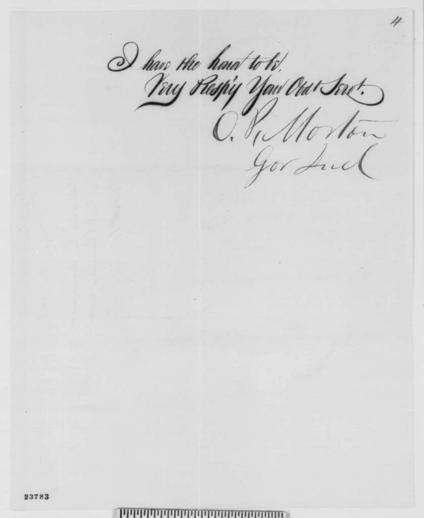 Oliver P. Morton to Abraham Lincoln, Saturday, May 30, 1863  (Protests General Burnside's Order No. 38)