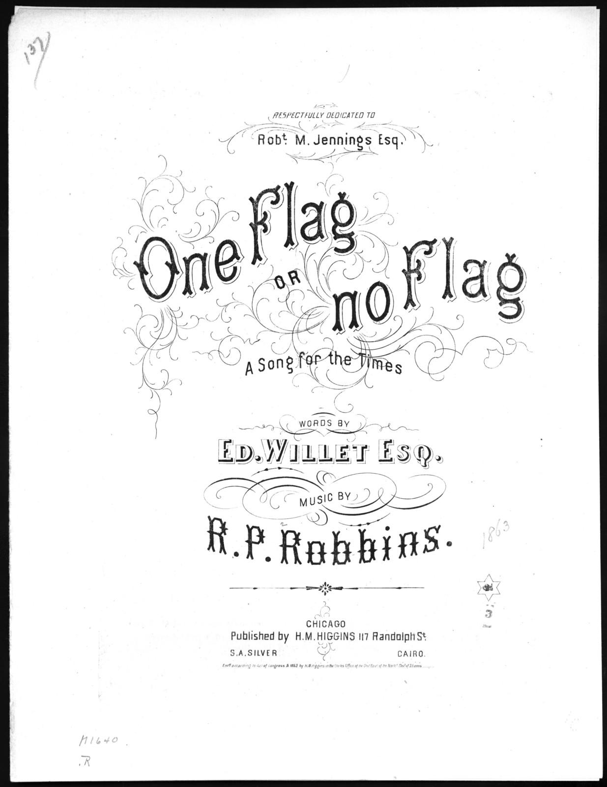 One flag or no flag