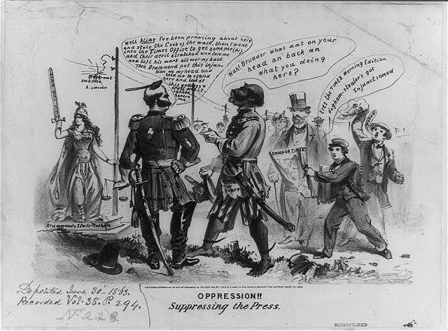 Oppression!! Suppressing the press