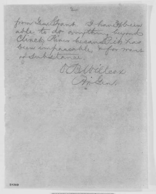 Orlando B. Willcox to Henry W. Halleck, Wednesday, November 25, 1863  (Telegram concerning military movements in Tennessee)