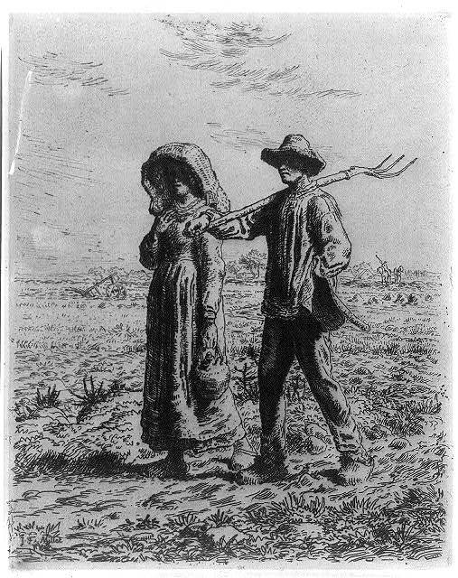 [Peasants going to work] / J.F. Millet.